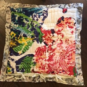 Other - Colorful quilted pillow sham